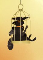 Big Bird in a Small Cage by Densetsugin