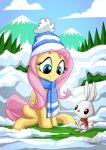 Fluttershy Angel Winter by mysticalpha