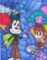 Yakko and Peacock's World by Millie-the-Cat7