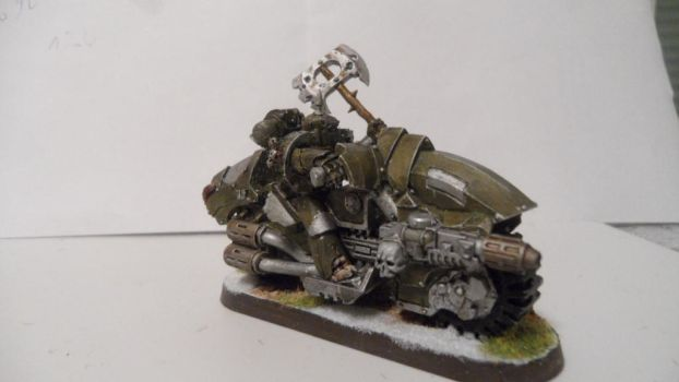 Nurgle Chaos biker with Melta-Gun  picture 1 by Dible