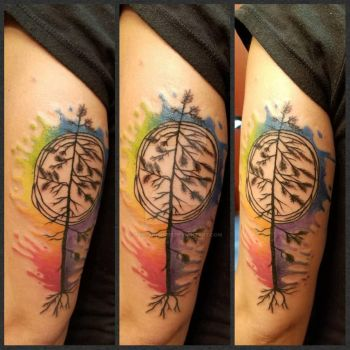 Watercolor Pride Tattoo by Ladyknight17