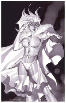 Emma Frost- Marker Illo by ChristopherStevens