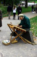 Musician in Central Park by Datasmurf