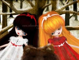 Snow White and Rose Red by solocosmo