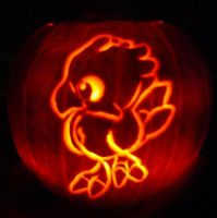 Chocobo Pumpkin Carving 2006 by DistantVisions